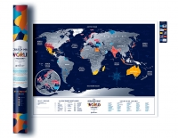 Скретч-карта мира Travel Map Holiday World