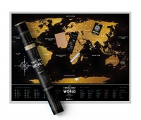 Скретч-карта мира Travel Map Black World