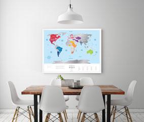 Скретч-карта мира Travel Map Silver World