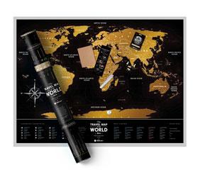 Скретч-карта мира Travel Map Black World