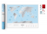 Скретч-карта мира Travel Map Silver World