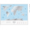 Скретч-карта мира Travel Map Silver World -