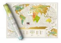 Скретч-карта мира Travel Map Geography World